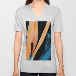 Bird of paradise flower Watercolor Unisex V-Neck