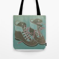 heels Tote Bags featuring Moray Heels by Jacqueline Pytyck