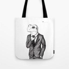 Frog in suit Tote Bag