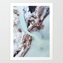 Blue Water Mouth Art Print