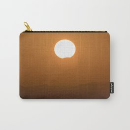 Partial solar eclipse through the mountains Carry-All Pouch