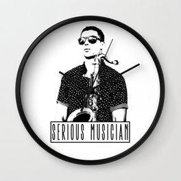 Serious Musician Wall Clock