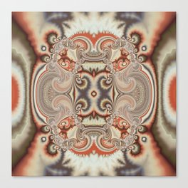 Abstract art with tribal patterns in autumn trendy colors Canvas Print