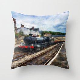 Steam Train Journey Throw Pillow