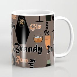 Drinks Brandy. Rum . Coffee Mug
