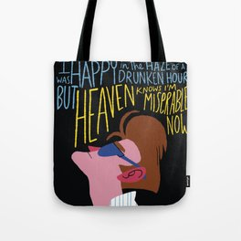 The Smiths - Heaven knows I'm miserable now Tote Bag