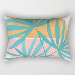 Retro Sunset Palms Rectangular Pillow