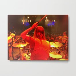 Taylor Hawkins Drum World Metal Print
