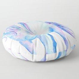 Watercolor Unicorn 3 Floor Pillow