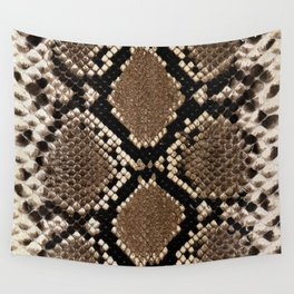 Faux Python Snake Skin Design Wall Tapestry