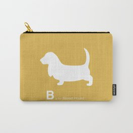 Basset Hound | Dogs series | Mustard Yellow Carry-All Pouch