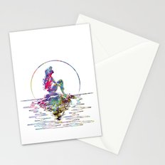 The Little Mermaid Ariel Silhouette Watercolor Stationery Cards