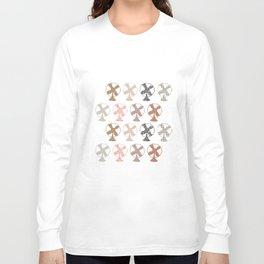 fans pattern Long Sleeve T-shirt