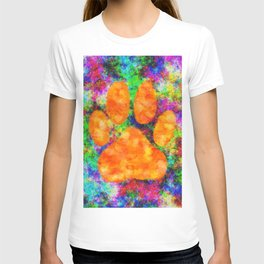 Dog Paw Print Watercolor T-shirt