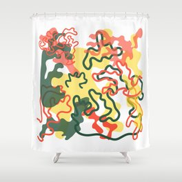 Extrovert Camouflage Shower Curtain