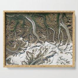 Chugach Mountains Glaciers, Alaska Serving Tray