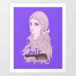 teen hair Art Print