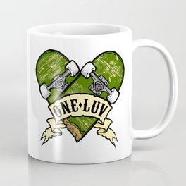 One Luv - Bored Heart - Olive Coffee Mug