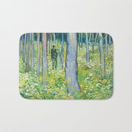 Undergrowth with Two Figures by Vincent van Gogh Bath Mat