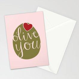 Olive You! Stationery Cards