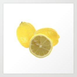 Fresh lemon Throw Art Print