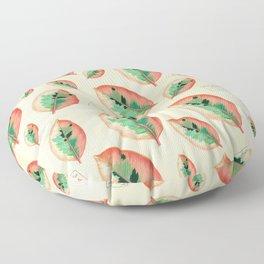 Ficus Elastica Floor Pillow