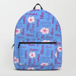 Ohana Family Plumeria Flowers Garden Love  Backpack