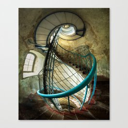 Inside the old lighthouse Canvas Print