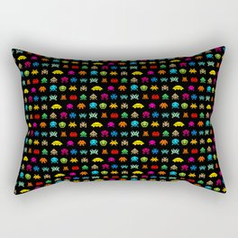 Invaders of Space retro arcade video game pattern design Rectangular Pillow