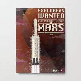 Spacex rocket to Mars Metal Print