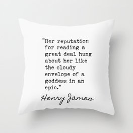American author, who became a British citizen in the last year of his life. Throw Pillow