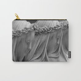 The Veiled Vestal Virgins marble sculpture by Raffaelo Mont black and white photograph Carry-All Pouch
