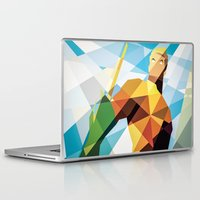 aquaman Laptop & iPad Skins featuring DC Comics Aquaman by Eric Dufresne