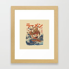 Great Ramen off Kanagawa Framed Art Print