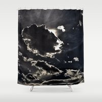 inception Shower Curtains featuring INTO THE SKY by Inception of The Matrix