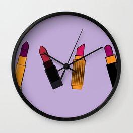 Lipsticks Wall Clock