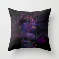 lovers Throw Pillows featuring Lovers by Christy Leigh