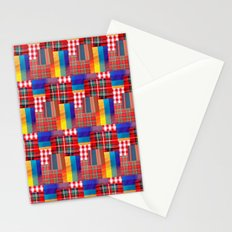 CHECK PATTERN Stationery Cards
