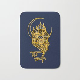 Baba Yaga Blue Gold Bath Mat