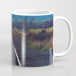 Wrong Side of the Track - Oncoming Train Coffee Mug