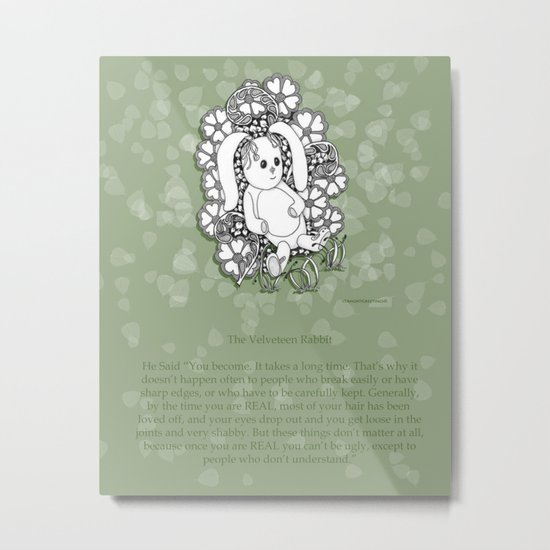 Velveteen Rabbit Wisdom Illustration for Children Metal Print