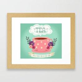 Tea Is A Hug In A Cup Framed Art Print