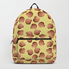 Yellow small Clams Illustration pattern Backpack