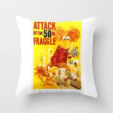Attack of the 50 Inch Fraggle Throw Pillow