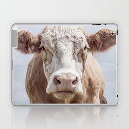 Animal Photography | Cow Portrait Colour | Minimalism | Farm Animals Laptop & iPad Skin