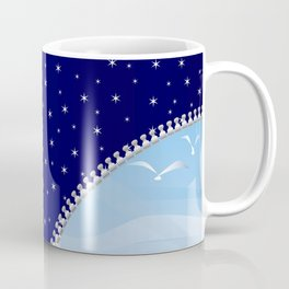 Zipper Day And Night Coffee Mug