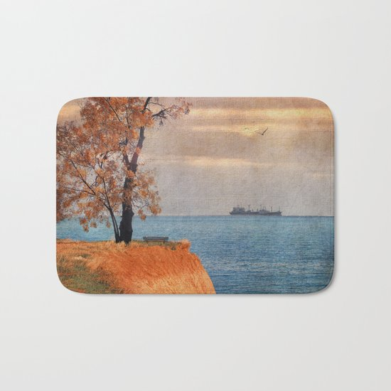 Autumn by the sea Bath Mat