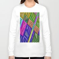 agate Long Sleeve T-shirts featuring Agate by RingWaveArt