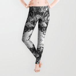 Black n White Boho Pattern Leggings