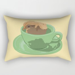 Baby Chick in Jadeite Cup Illustration Rectangular Pillow